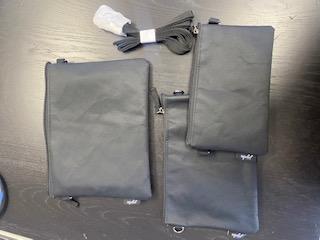 Trio 3 Piece Bag Set - Black
